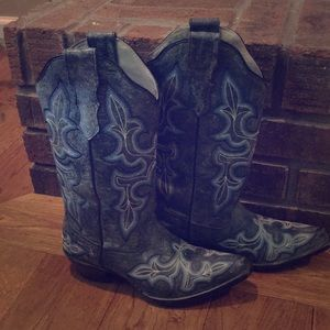 Ropers blue dress boots